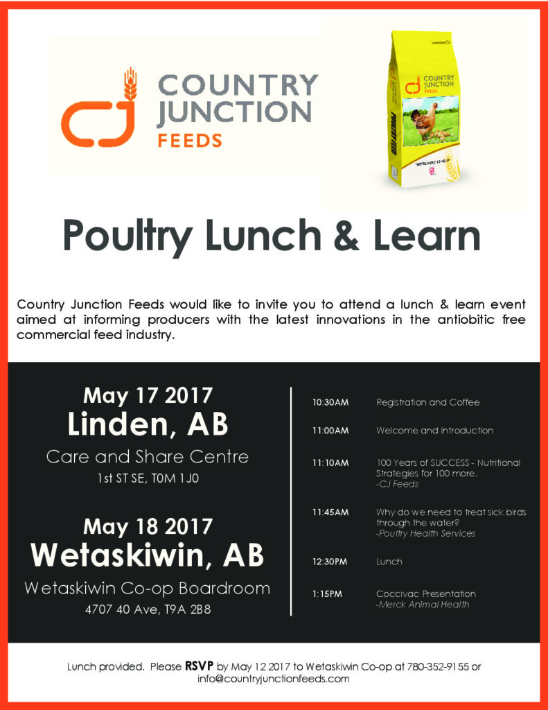 Country Junction Lunch Learn May 1718 Poultry Partners